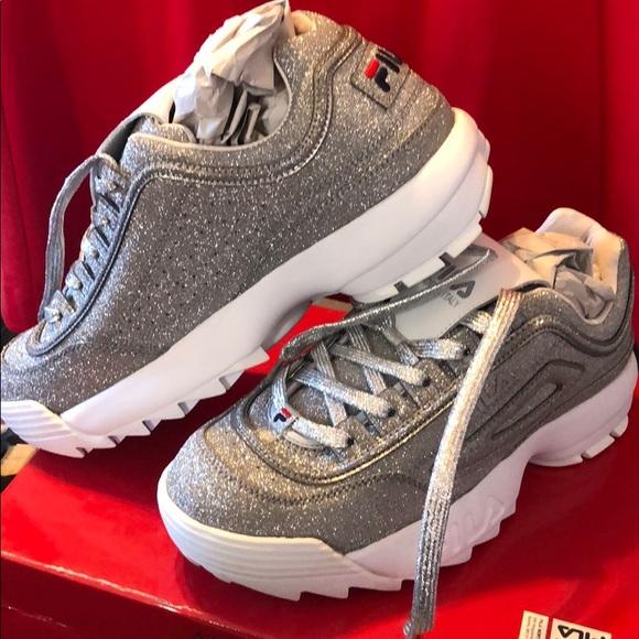 Fila Shoes   Metallic Disruptor Ii Made